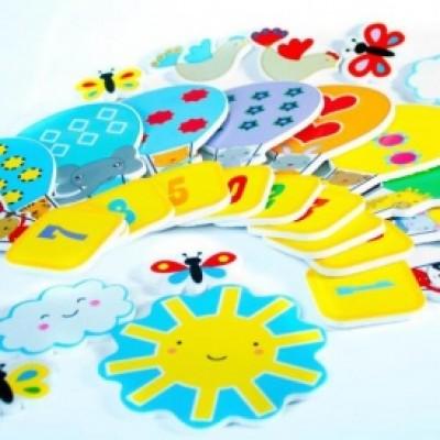 Игровой набор для ванной - стикеры ВЕСЕЛЫЙ СЧЁТ