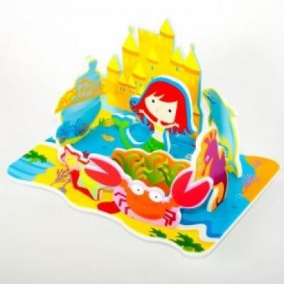Игровой набор для ванной - 3D сцена КОРОЛЕВСТВО РУСАЛОЧКИ