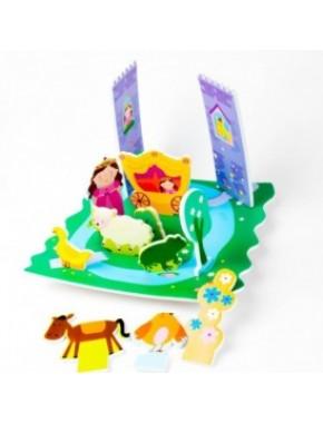 Игровой набор для ванной - 3D сцена ЗАМОК ПРИНЦЕССЫ