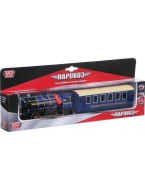Модель Паровоз с вагоном Технопарк