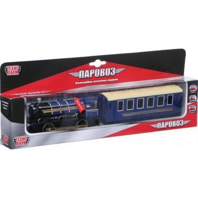 Модель Паровоз с вагоном