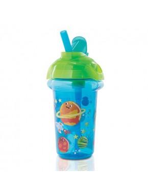 """Бутылка непроливна """"Flip Straw"""", 266мл. (Голубая)"""