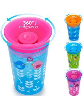 """Бутылка непроливна """"Sippy"""", 266мл (голубая с розовой крышкой)"""