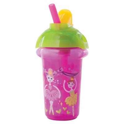 "Бутылка непроливайка ""Flip Straw"" Munchkin, 266мл. (Розовая) (012092.02)"