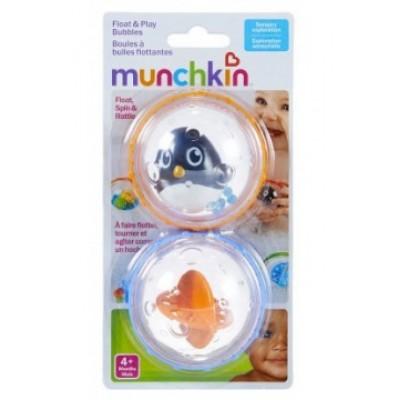 Игрушка для ванны «Плавающие пузыря» (пингвин с оранжевой пулей)