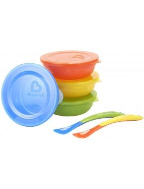 Набор посуды: блюда с крышками 4шт., Ложки 2шт.