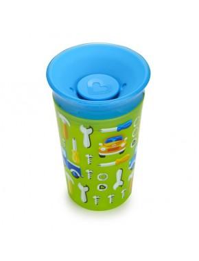 "Бутылка непроливна ""Sippy"", 266мл (зеленая с голубой крышкой)"