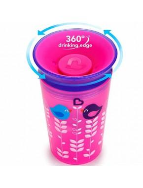 """Бутылка непроливна """"Sippy"""", 266мл (розовая с фиолетовой крышкой)"""