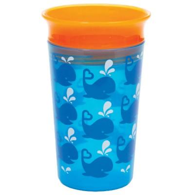 """Бутылка непроливна """"Sippy"""", 266мл (голубая с оранжевой крышкой)"""