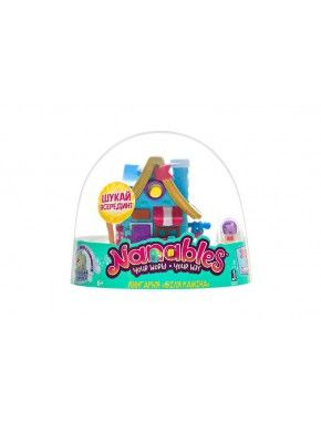 Игровая фигурка Jazwares Nanables Small House Зимняя страна чудес, Книжный магазин, У камина (NNB0032)