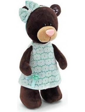 Мягкая игрушка Orange Медведь девочка Milk стоячая в платье цвета мяты 25см (M5044/25)