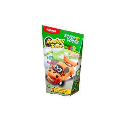 Масса для лепки Paulinda Super Dough Racing time Машинка оранжевая, инерционный механизм (PL-081161-3)