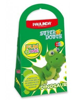 Масса для лепки Paulinda Super Dough Fun4one Динозавр, подвижные глаза (PL-1567)