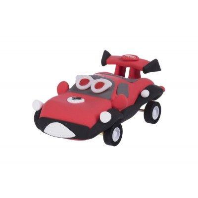 Масса для лепки Paulinda Super Dough Racing time Машинка красная, инерционный механизм (PL-081161-4)