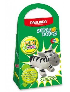 Масса для лепки Paulinda Super Dough Fun4one Зебра, подвижные глаза (PL-1563)