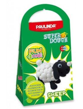 Масса для лепки Paulinda Super Dough Fun4one Овечка, подвижные глаза (PL-1564)