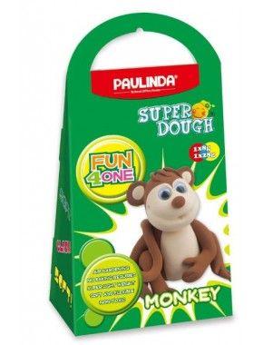Масса для лепки Paulinda Super Dough Fun4one Обезьяна, подвижные глаза (PL-1566)