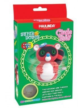 Масса для лепки Paulinda Super Dough Circle Baby Енот крутящийся механизм, красный (PL-081177-1)