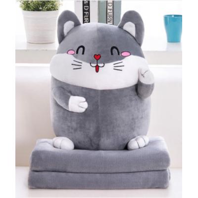 Мягкая игрушка 2в1 Мышка (Плед+Подушка) (006)