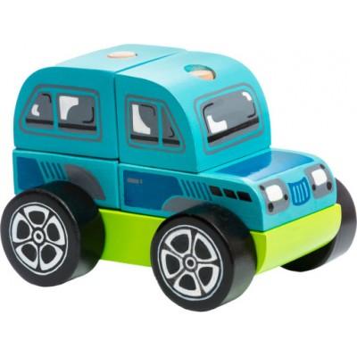 Деревянная игрушка Cubika Машинка Внедорожник Кубика LM-9 (13180)