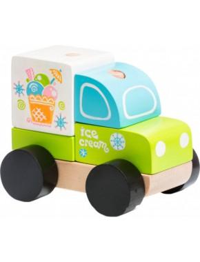 Деревянная игрушка Cubika Машинка Экспресс-мороженое LM-8 (13173)