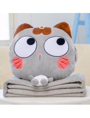 Плед+Подушка(Котик Глазки)