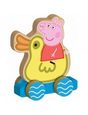 Деревянная игрушка-каталка Peppa - ВЕСЕЛОЕ ПУТЕШЕСТВИЕ