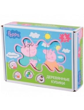 Деревянный игровой набор Peppa – КУБИКИ ПЕППЫ
