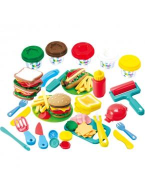 Набор для лепки Playgo Бургерна Burger Deli