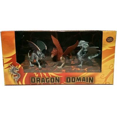 Игровой набор HGL Dragon Domain Мир драконов Серия B 3 шт