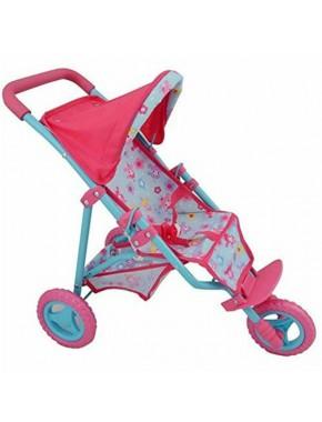 Кукольная трехколесная прогулочная коляска DollsWorld