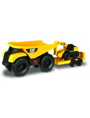 Игрушка Toy State Минитрейлер Самосвал и прицеп с экскаватором 28 см