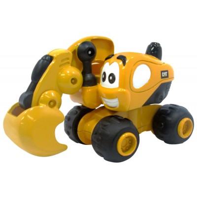 Игрушка Инерционная техника САТ для малышей Экскаватор Дэйв 9 см