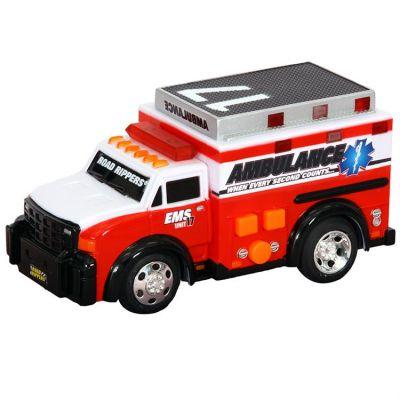 Игрушка Спасательная техника Скорая помощь со светом и звуком 13 см