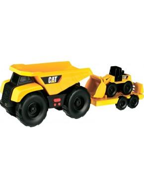 Игрушка Toy State Минитрейлер Самосвал и прицеп с погрузчиком 28 см