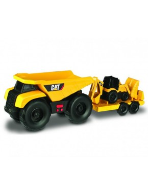 Игрушка Toy State Минитрейлер Самосвал и прицеп с двухковшовым экскаватором 28 см