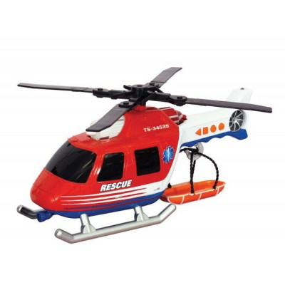 Игрушка Спасательная техника Вертолет со светом и звуком 30 см