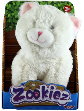 Плюшевый Белый котенок Zookies