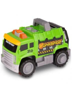 Игрушка ToyState Городская техника Мусоровоз со светом и звуком 18 см