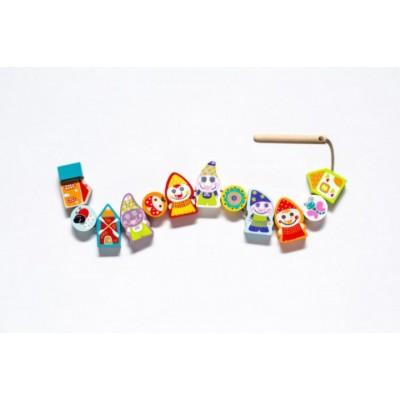 Деревянная игрушка Cubika Гномы-шнуровка (13654)