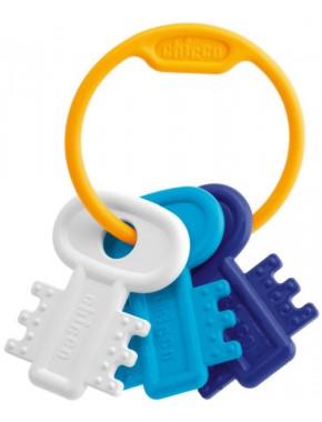 Погремушка-прорезыватель Мягкие ключи Chicco, голубой (63216.20)