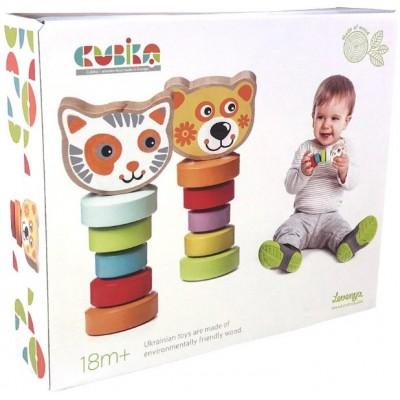 Cubika-Набор деревянных игрушек Гибкие животные