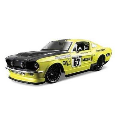 Автомодель Maisto (1:24) 1967 Ford Mustang Жёлтый - тюнинг