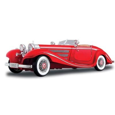 Автомодель Maisto (1:18) Mercedes 500 K Typ Specialroadster (1936) Красный