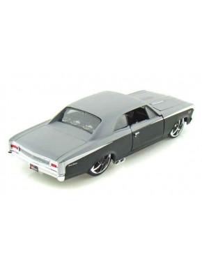 Автомодель Maisto (1:24) Chevrolet Chevelle SS 396 1966 Чёрно-серый металлик тюнинг