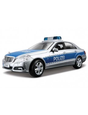 Автомодель Maisto (1:18) Mercedes Benz E-Class German Police Серебристо-синий