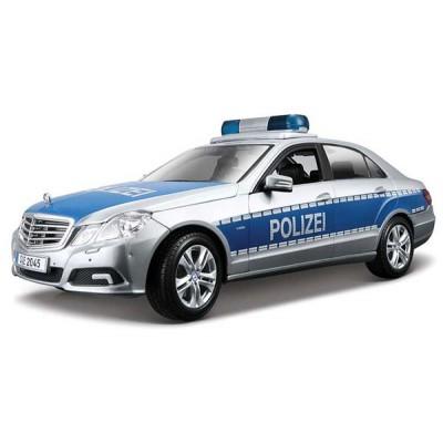 Автомодель Maisto (1:18) Mercedes Benz E-Class German Police Серебристо-синий