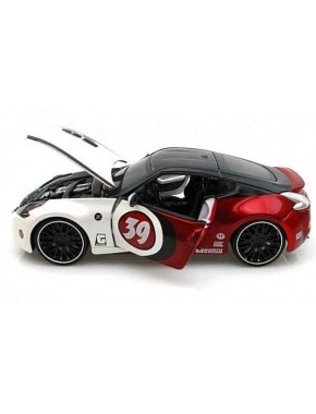 Автомодель Maisto (1:24) Nissan 370Z 2009 Бело-красный тюнинг