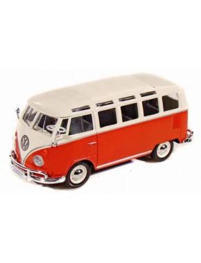 Автомодель Maisto (1:25) Volkswagen Van Samba Красно-кремовый