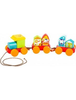 Деревянная игрушка Cubika Сказочный поезд (14002)